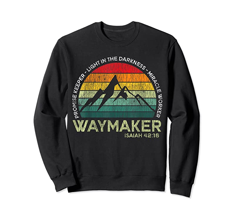 Unisex Vintage Waymaker Promise Keeper Miracle Worker Christian T Shirts