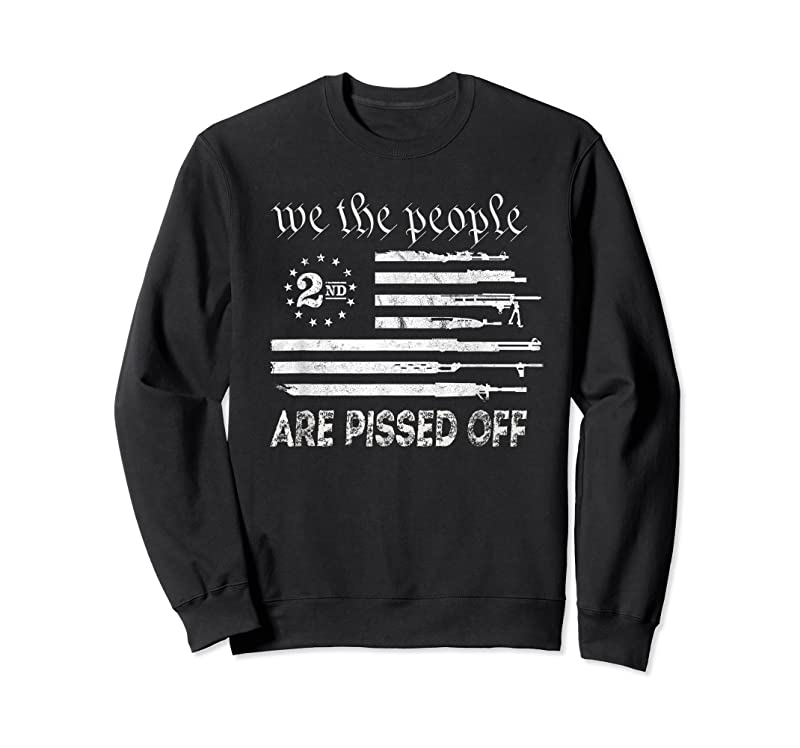 Unisex We The People Are Pissed Off Vintage Us America Flag Guns T Shirts