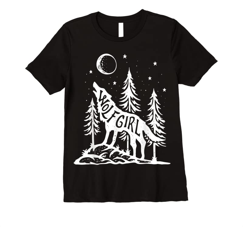 Unisex Wolf Girl Who Loves Wolves Funny Animal Lovers Women Outdoor T Shirts